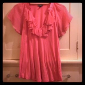 Express Pink Top w/ Beautiful Accents Size Large